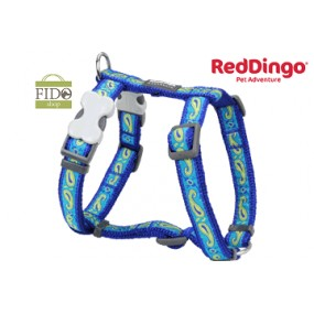 RED DINGO PETTORINA H REGISTRABILE COLLO E CORPO DESIGN PASLEI BLUE WITH GREEN