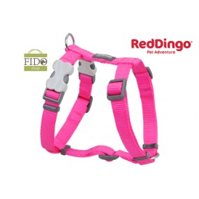 RED DINGO PETTORINA H REGISTRABILE COLLO E CORPO DESIGN CLASSIC HOT PINK
