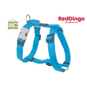 RED DINGO PETTORINA H REGISTRABILE COLLO E CORPO DESIGN CLASSIC TURQUOISE