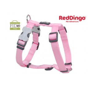 RED DINGO PETTORINA H REGISTRABILE COLLO E CORPO DESIGN CLASSIC PINK