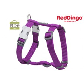 RED DINGO PETTORINA H REGISTRABILE COLLO E CORPO DESIGN CLASSIC PURPLE