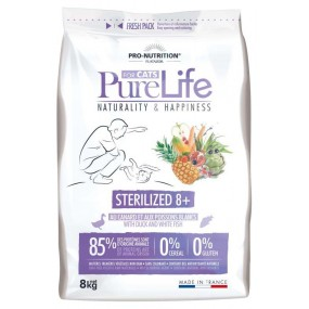 New Flatazor Pure Life Cat Sterilized 8+ Anatra e Pesce Bianco Cereal Free 2Kg