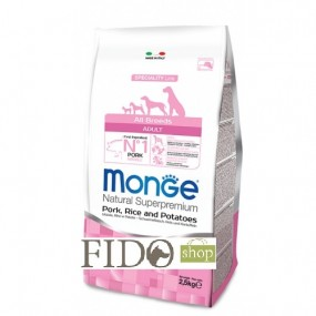 Monge Natural Superpremium Adult All breeds Maiale Riso e Patate 2,5Kg