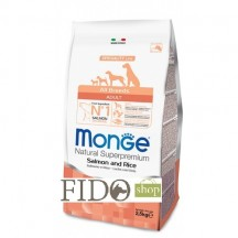 Monge Natural Superpremium Adult All breeds Salmone e Riso 2,5Kg