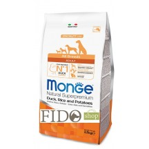 Monge Natural Superpremium Adult All breeds Anatra Riso e Patate 2,5Kg