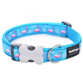 RED DINGO FLAMINGO COLLAR DOG ADJUSTABLE SIZE S
