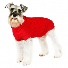 URBAN PUP MAGLIONCINO ROSSO - Red Waffle Textured Knitted Sweater