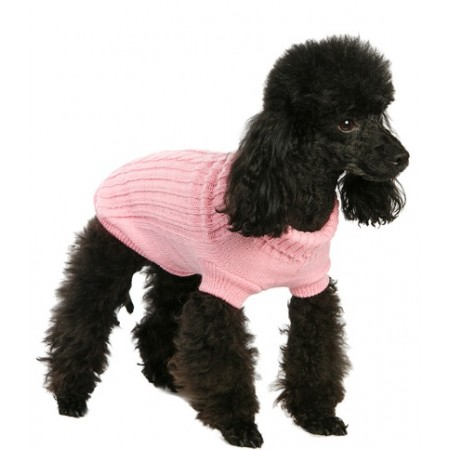 URBAN PUP MAGLIONCINO ROSA - Pink Cable Knit Sweater
