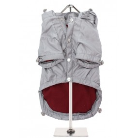 URBAN PUP IMPERMEABILE ANTIPIOGGIA ANTI VENTO CON CAPPUCCIO STACCABILE - Grey Rainstorm Rain Coat