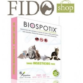 BIOSPOTIX 5 PIPETTE SPOT-ON ANTIPARASSITARIO GATTO